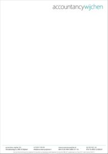 Design van briefpapier voor Accountancy Wijchen
